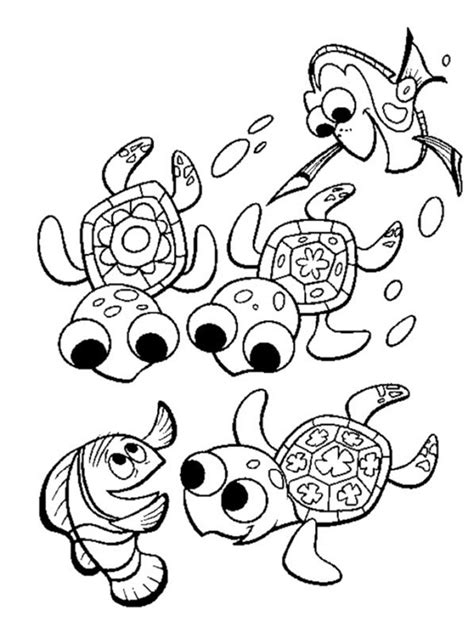 nemo sea turtle coloring page print download turtle coloring pages as the