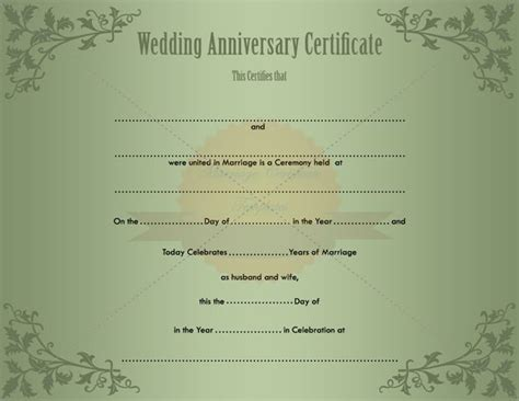 wedding certificate templates free printable keepsake printable wedding certificate template
