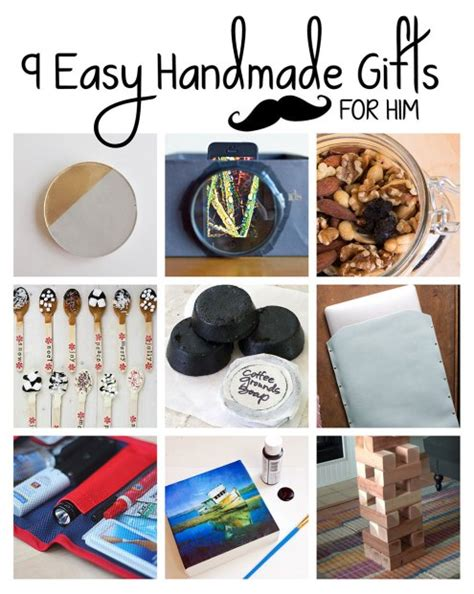 Handmade Gift Ideas For Him - 9 easy handmade gifts for him