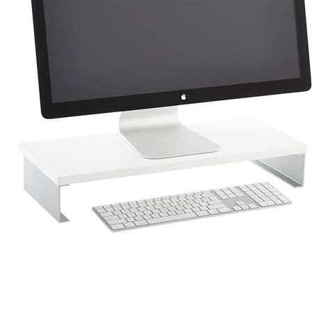 computer monitor stand for desk monitor stand the container store