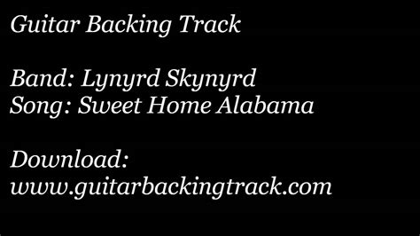 guitar backing track lynyrd skynyrd sweet home alabama