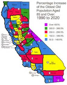 california population map facts about california s elderly data statistics
