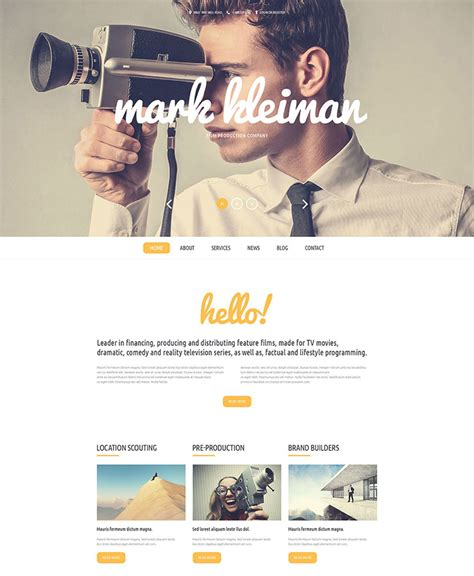 website templates for video production company stunning production company website template ideas