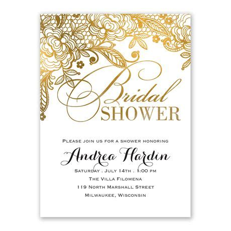 Bridal Shower In by Gold Lace Bridal Shower Invitation S Bridal Bargains
