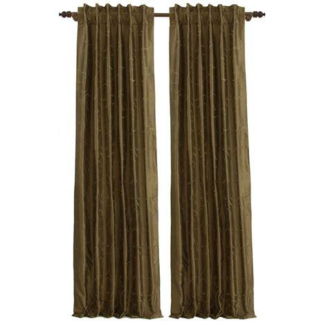 bronze curtains fine living antique bronze diesel faux silk rod pocket