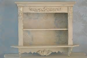 shabby chic wall shelves vintage style shelf wall unit
