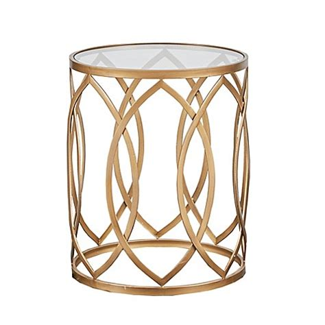 gold metal end table park arlo accent table in gold bed bath beyond