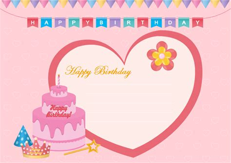 template for birthday card with photo greeting card exles downloadable and editable