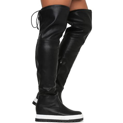 thigh high black boots flat thigh high black boots flat yu boots