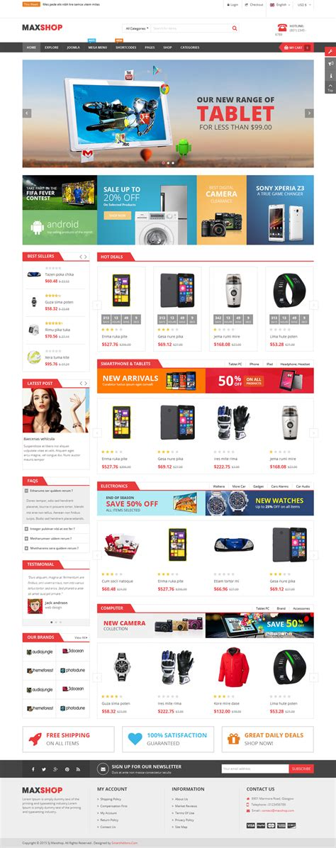 maxshop multipurpose ecommerce joomla template by