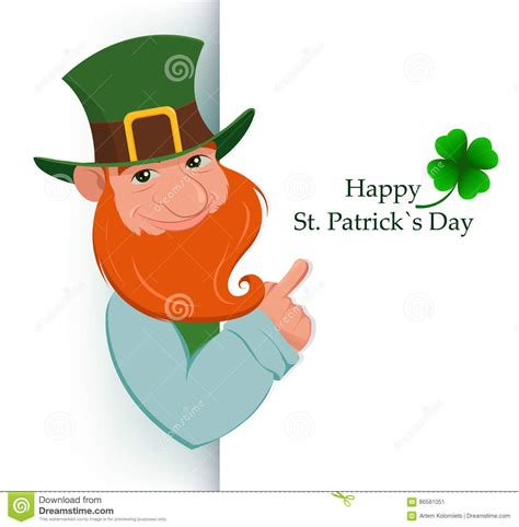 s day character connections leprechaun sign stock illustration