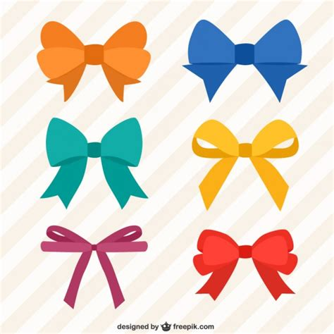 colorful bows collection of colorful bows vector premium