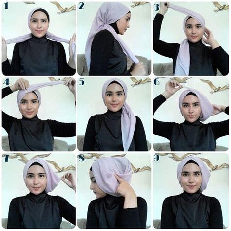 hijab tutorial turban menggunakan hijab segi empat