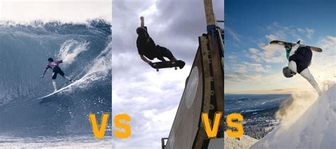 surfing vs skateboarding vs snowboarding which is best