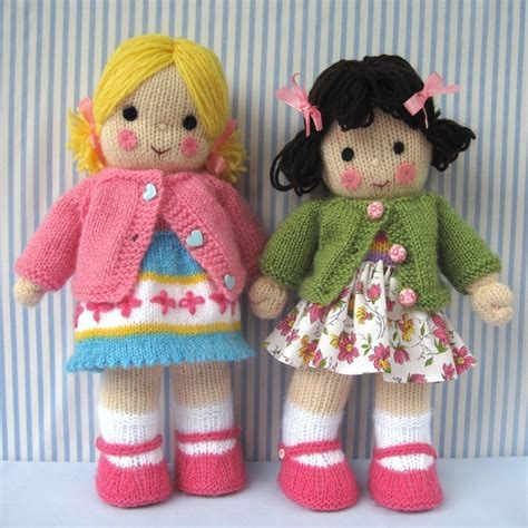 dolls knitting patterns polly and kate knitted dolls pdf email knitting