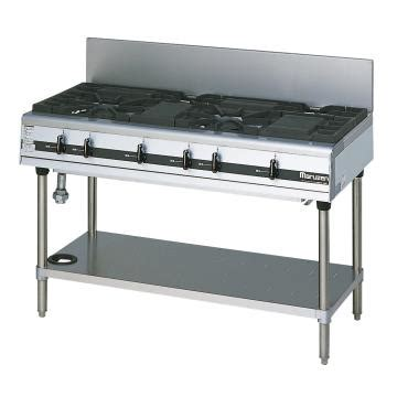 マルゼン パワークック業務用ガステーブル mgtx 126e 都市ガス 3 01171 業務用厨房・備品を探そう