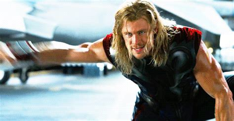 thor swinging hammer chris hemsworth s 23 sexiest thor moments mtv
