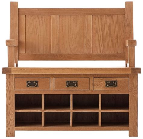 monks bench with storage oldbury oak furniture oldbury rustic oak monks