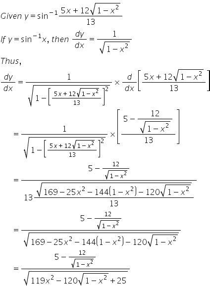if y sin 1 5x 12 1 x 2 1 2 13 find dy dx otpu9qyy