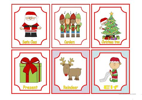 christmas decorations flashcards flash cards lights card and decore