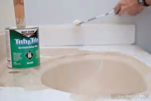 Spray Painting Kitchen Cabinets by Remodelaholic Painted Bathroom Sink And Countertop Makeover