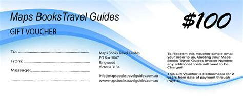 Voucher Map 100 By Ecoshops map and book gift vouchers maps books travel guides