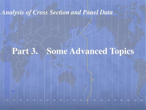 econometric analysis of cross section and panel data pdf ppt analysis of cross section and panel data powerpoint