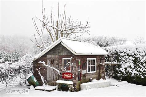 Shedding Winter a merry winter shedfunky junk interiors