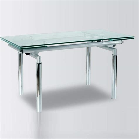 metal and glass contemporary dining table yonkers new york - Glass Kitchen Tables