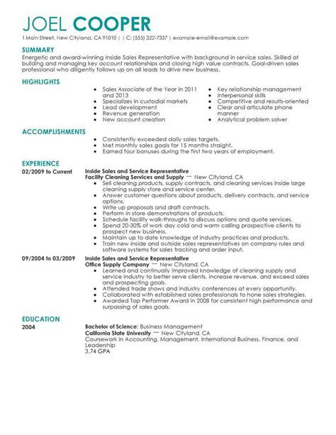 student entry level sales representative resume template