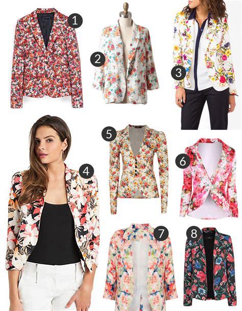 Zra Floral Rantai Original we fridays the floral blazer