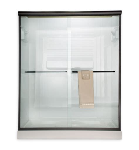 Clear Glass Frameless Sliding Shower Door American Standard Am00390400 Frameless Sliding Clear Glass Shower Doors