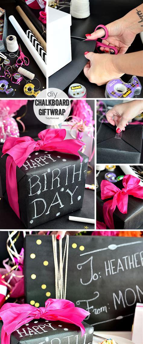 chalkboard diy gifts diy chalkboard gift wrap tidymom