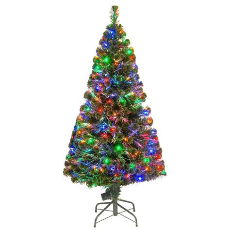 fiber optic christmas tree 5ft national tree company 5 ft fiber optic led evergreen artificial tree with 150 multi