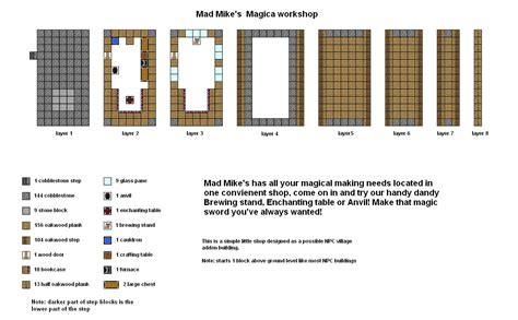 mad floor plan mad mikes magica shop minecraft floorplan by coltcoyote on