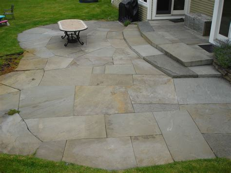 Large Paver Patio Blue Patio Construction In Westchester County Ny This Irregular Color Laid