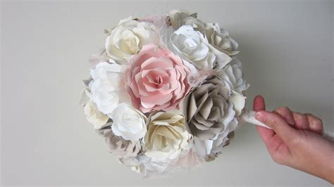 How To Make Bouquet Of Paper Flowers - diy wedding bouquet paper flowers from start to finish