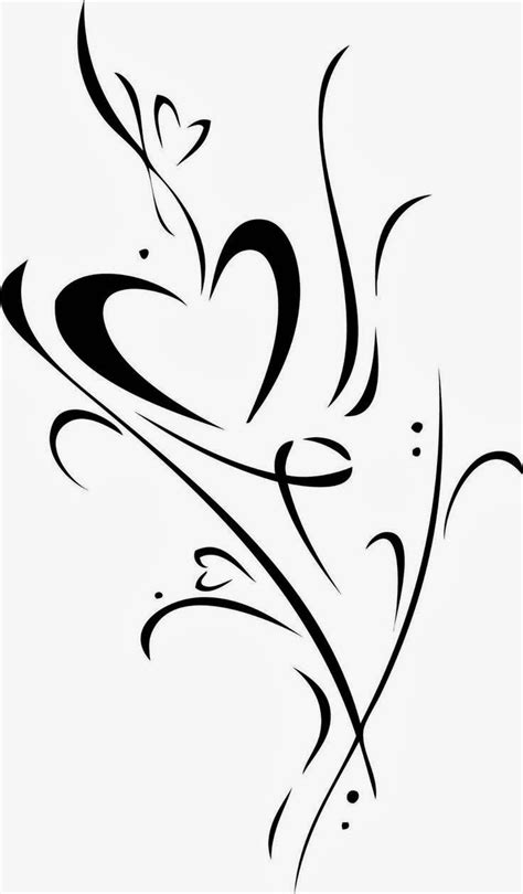 heart with vines tattoo design vine design clip to convert to cutting files