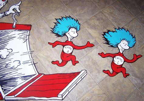 Childrens Wall Mural Stickers dr seuss dr suess theme wallpaper wall paper art sticker