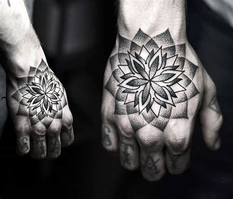 tattoo designs full hand cover up with wonderful dotwork flower