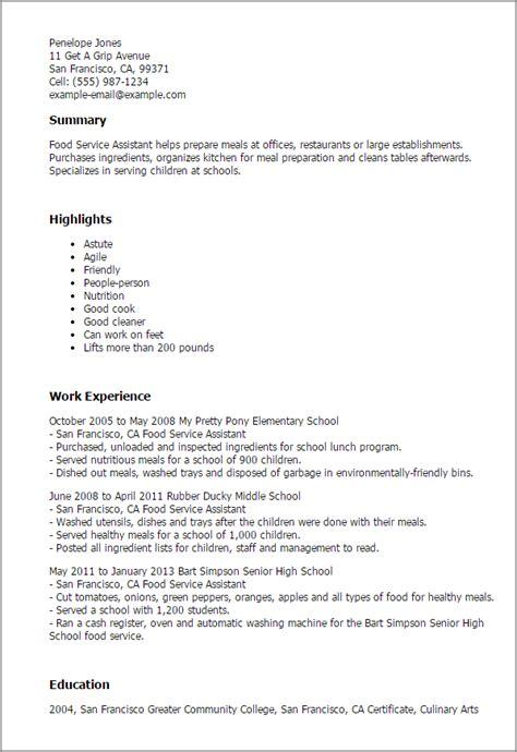 Recommendation Letter Questbridge resume food service
