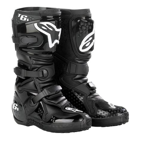 alpinestars tech 6 motocross boots alpinestars tech 6s kids motocross boots black