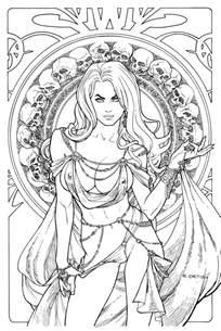lady death regal jewel edition art ric1975 deviantart