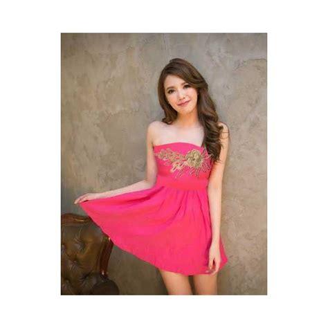 Mini Dress By Shopping Dulu mini dress model kemben d1879 moro fashion