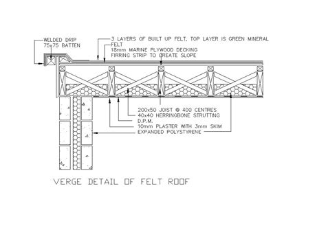 flat roof section detail flat roof flat roof detail