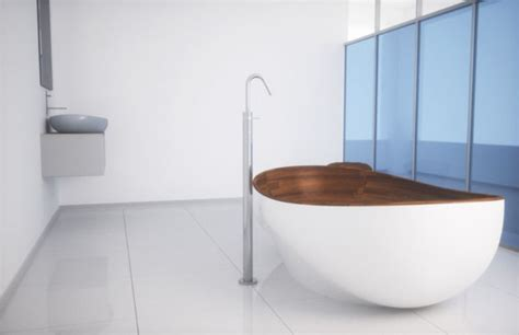 bathroom appliances and furniture with wooden