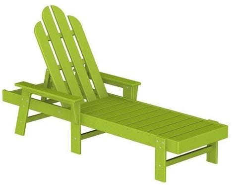Polywood Adirondack Chaise Lounge Lime Traditional