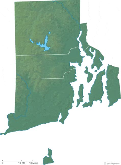rhode island on map rhode island physical map and rhode island topographic map