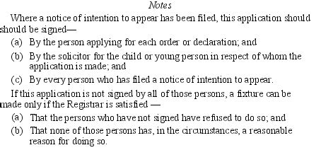 section 23 children act 1989 children young persons and their families rules 1989 sr
