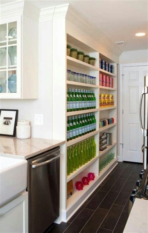 narrow open pantry shelves butlers pantry food closet